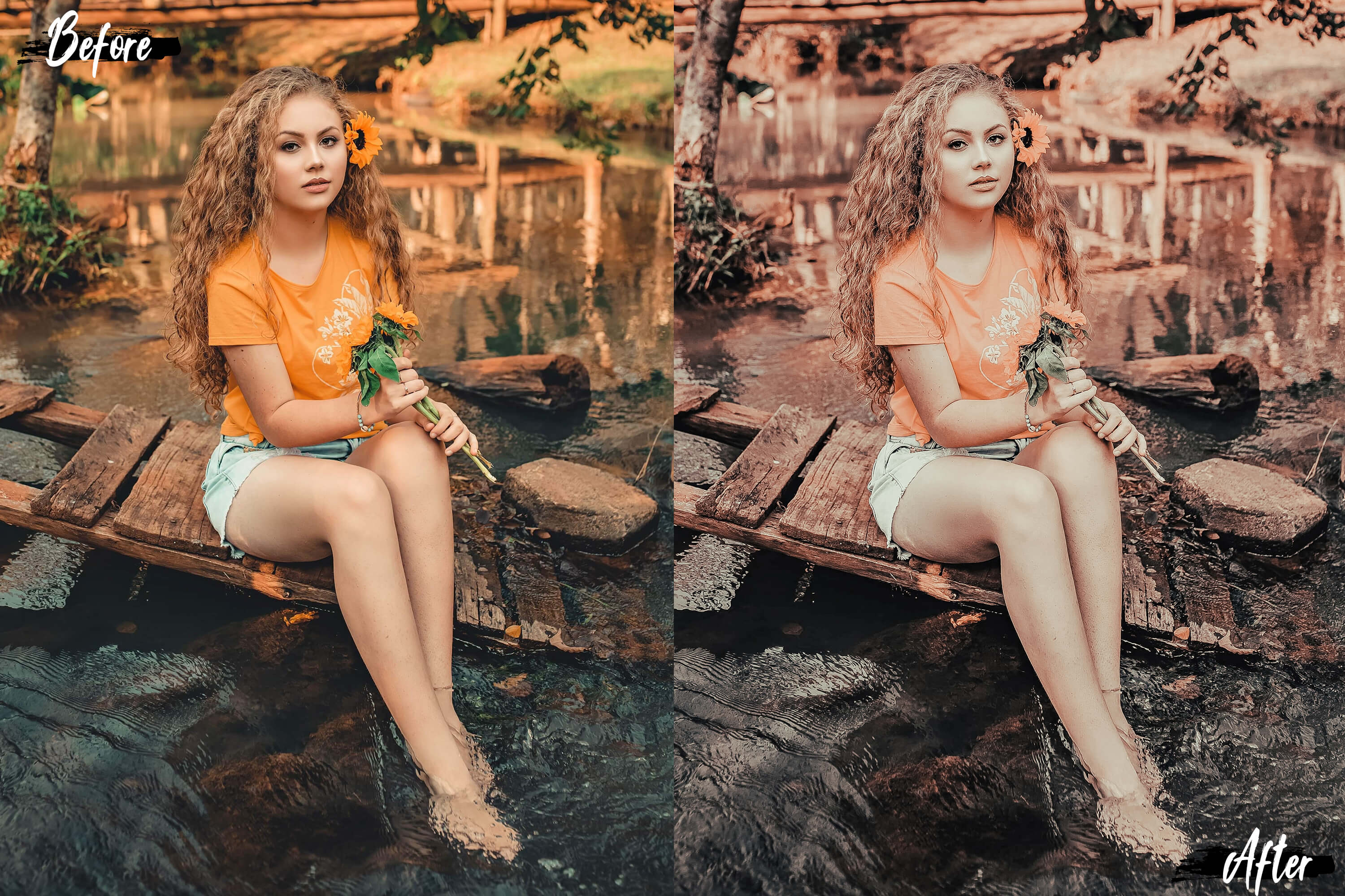 5 Dreamy Autumn Photoshop Actions, ACR and LUT presets example image 9