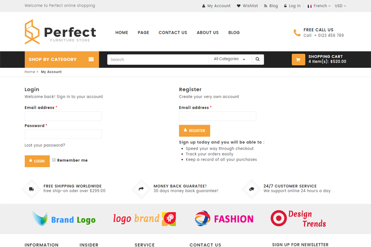 Perfect - Responsive Ecommerce HTML5 Template example image 5