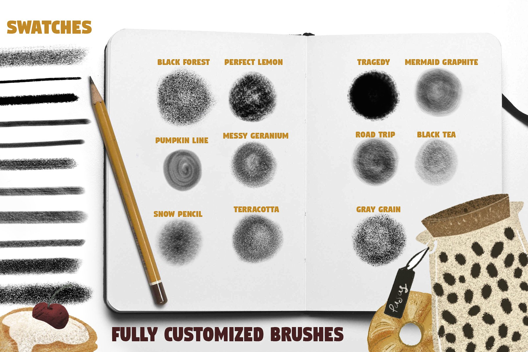 Color Pencil Box - Procreate set example image 2