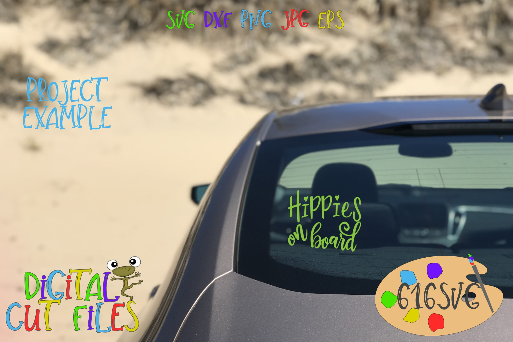 Hippies On Board SVG example image 1