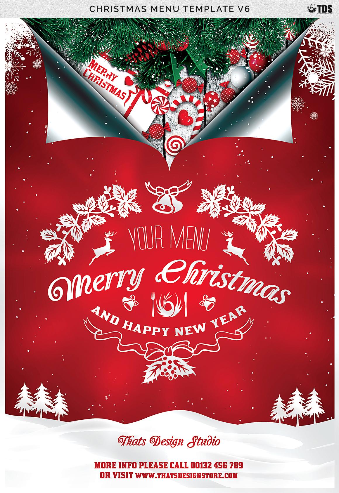 christmas menu template v6 example image 9 - Christmas Menu Template