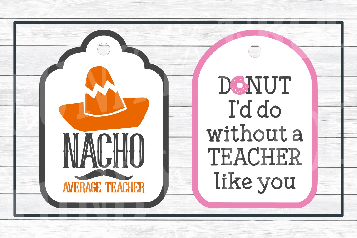 Teacher Appreciation Gift Tags-Print and Cut, SVG Cut Files example image 6