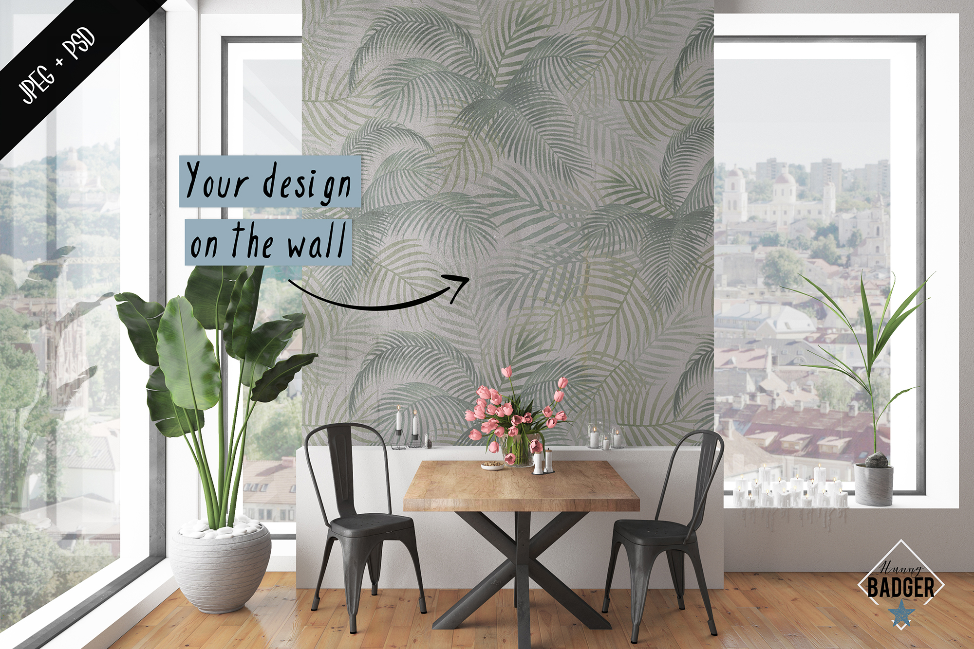 Interior mockup - frame & wall mockup creator example image 5
