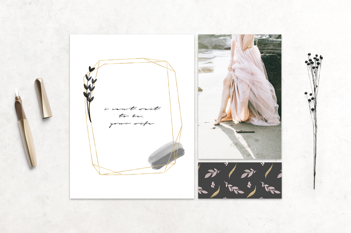 Charcoal, Gold & Blush Collection example image 5
