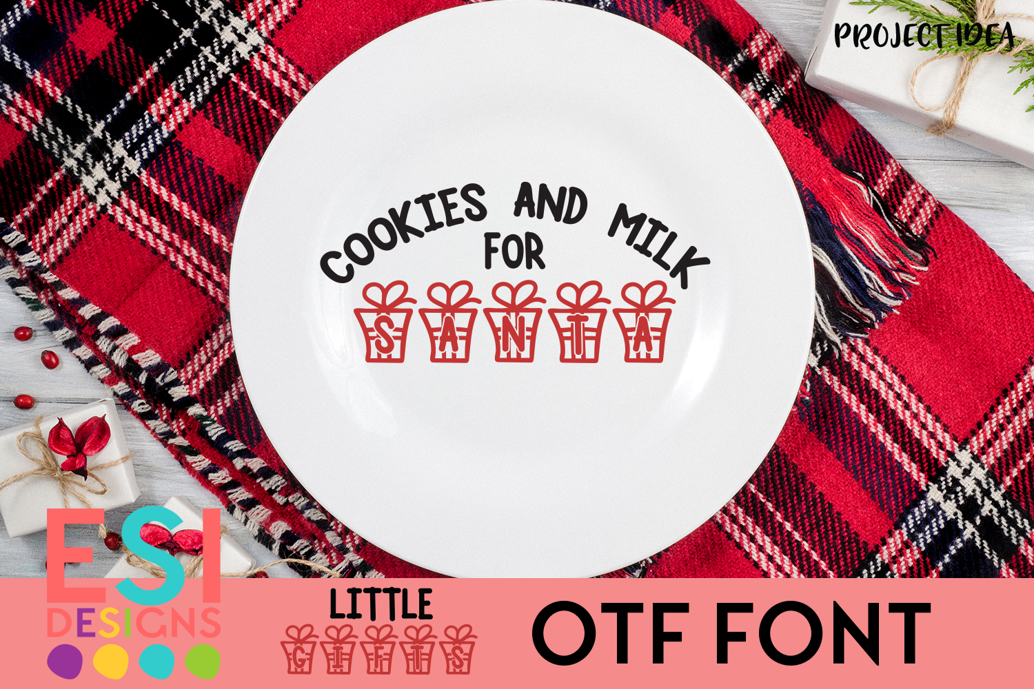 Little Gifts Christmas Font example image 3