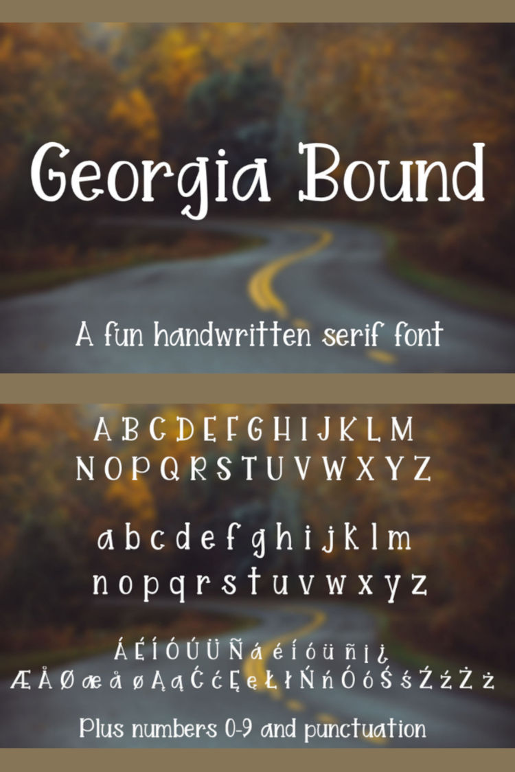 Georgia Bound - A fun handwritten serif font example image 5