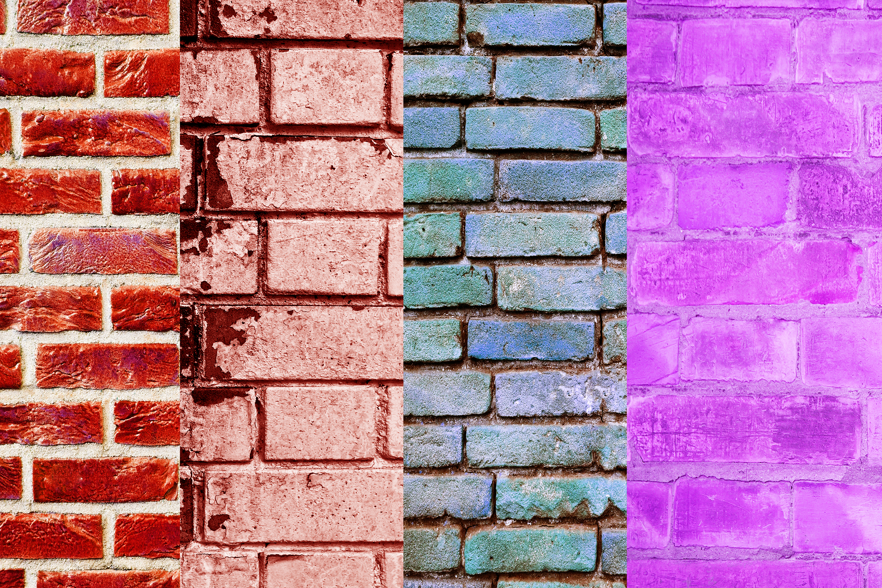 Brick Wall Digital Papers, Wall Textures, Wall Backgrounds example image 2