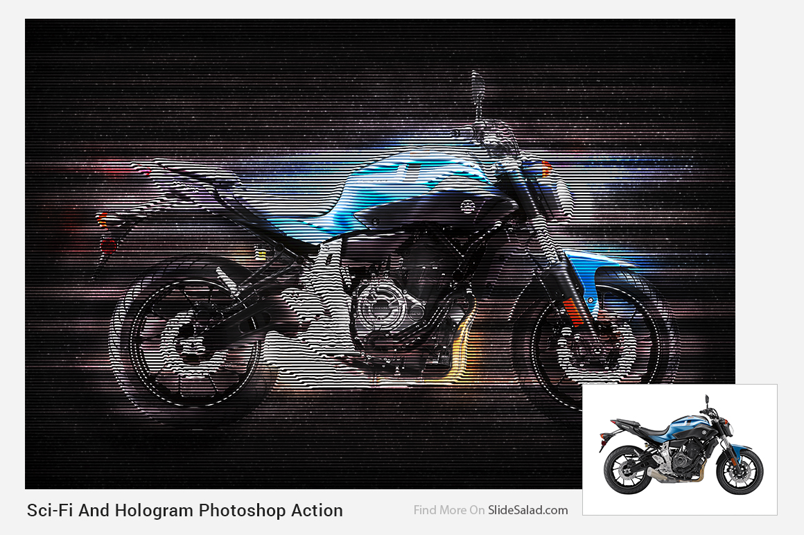 Sci-Fi And Hologram Photoshop Action example image 8