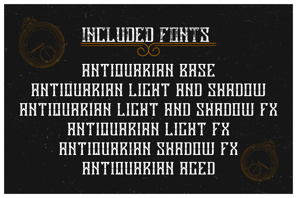 Antiquarian label typeface example image 5