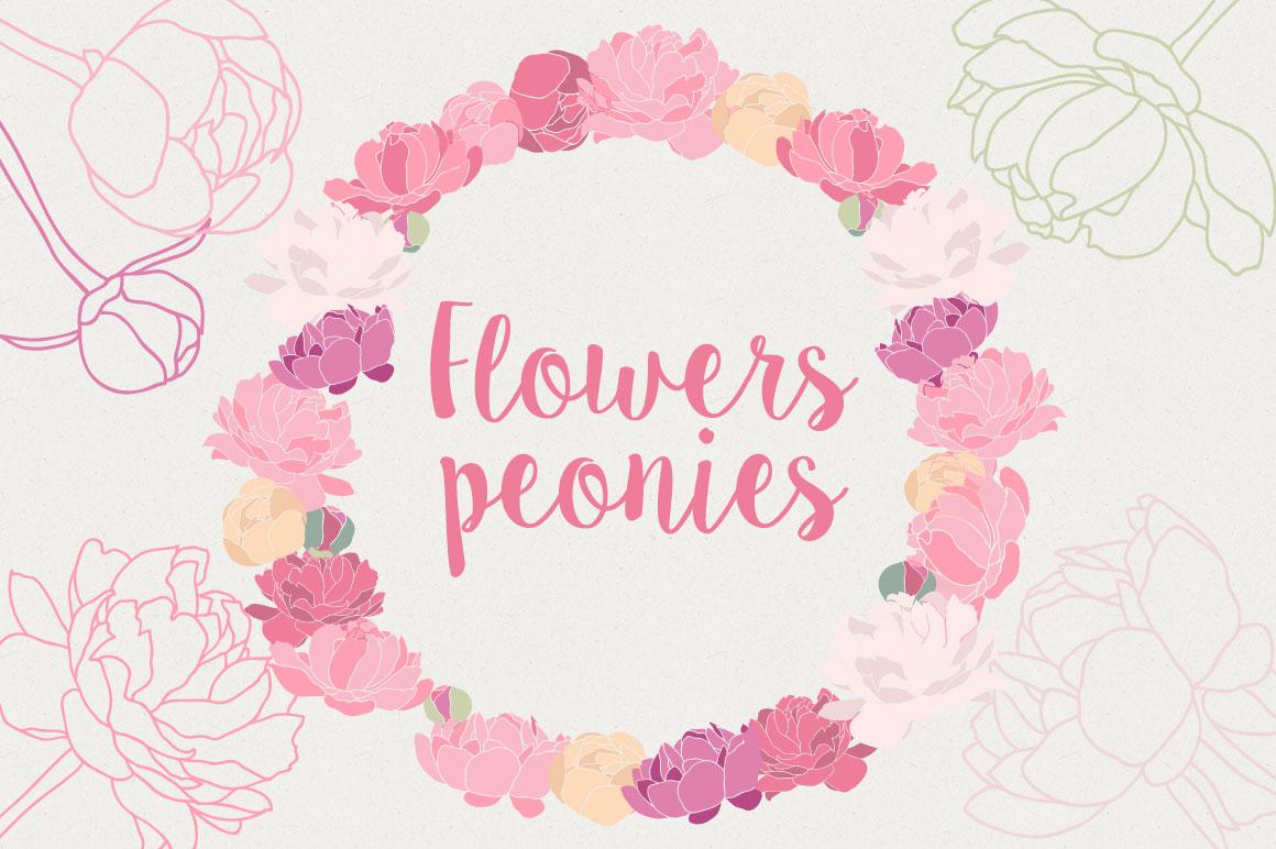Flower Peonies example image 1