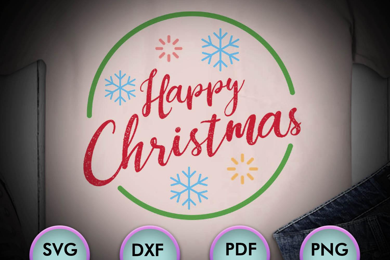 Merry Christmas Logo, Xmas, happy christmas, SVG Design example image 1