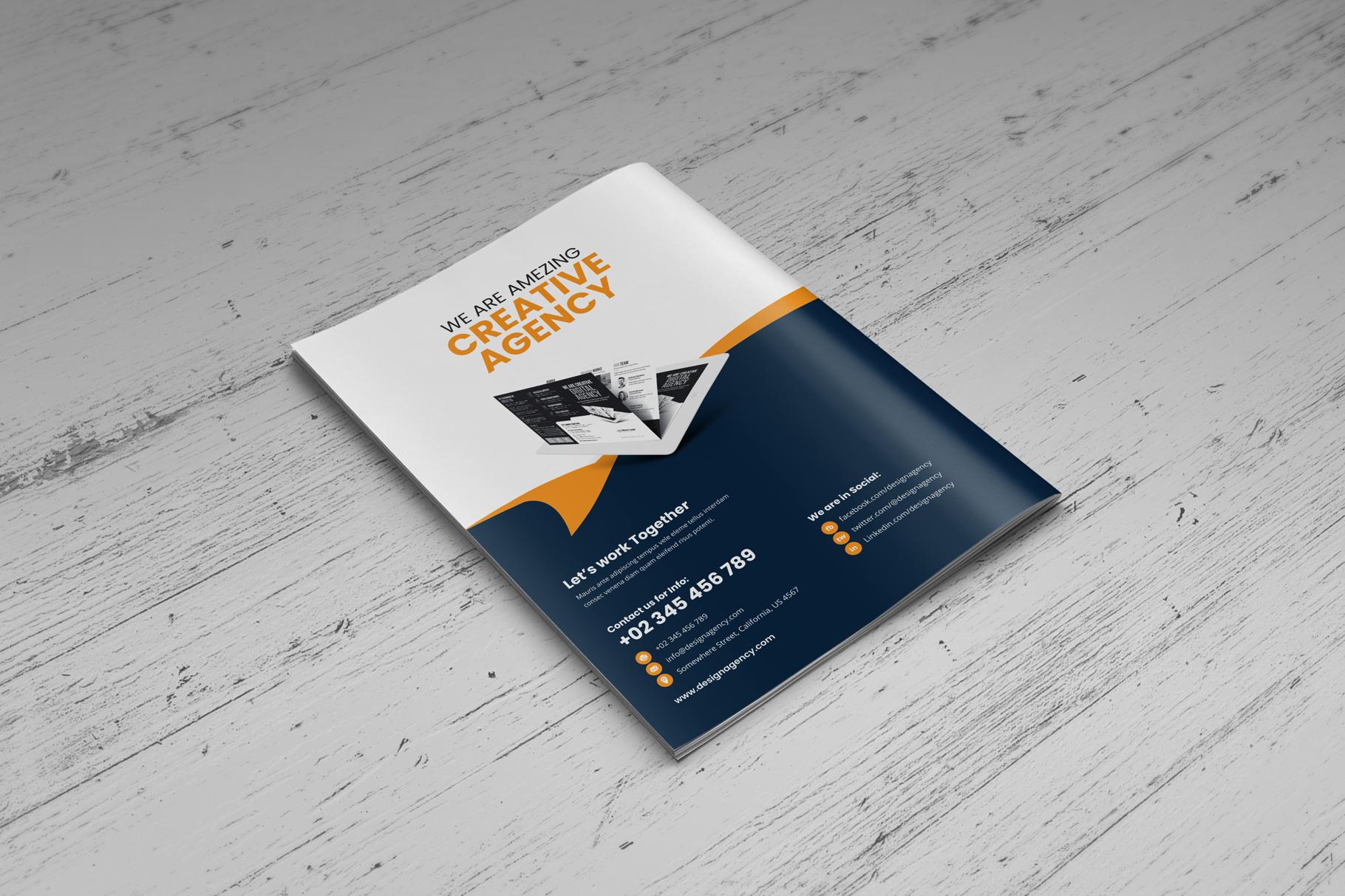 Portfolio Bifold Brochure Design v1 example image 8