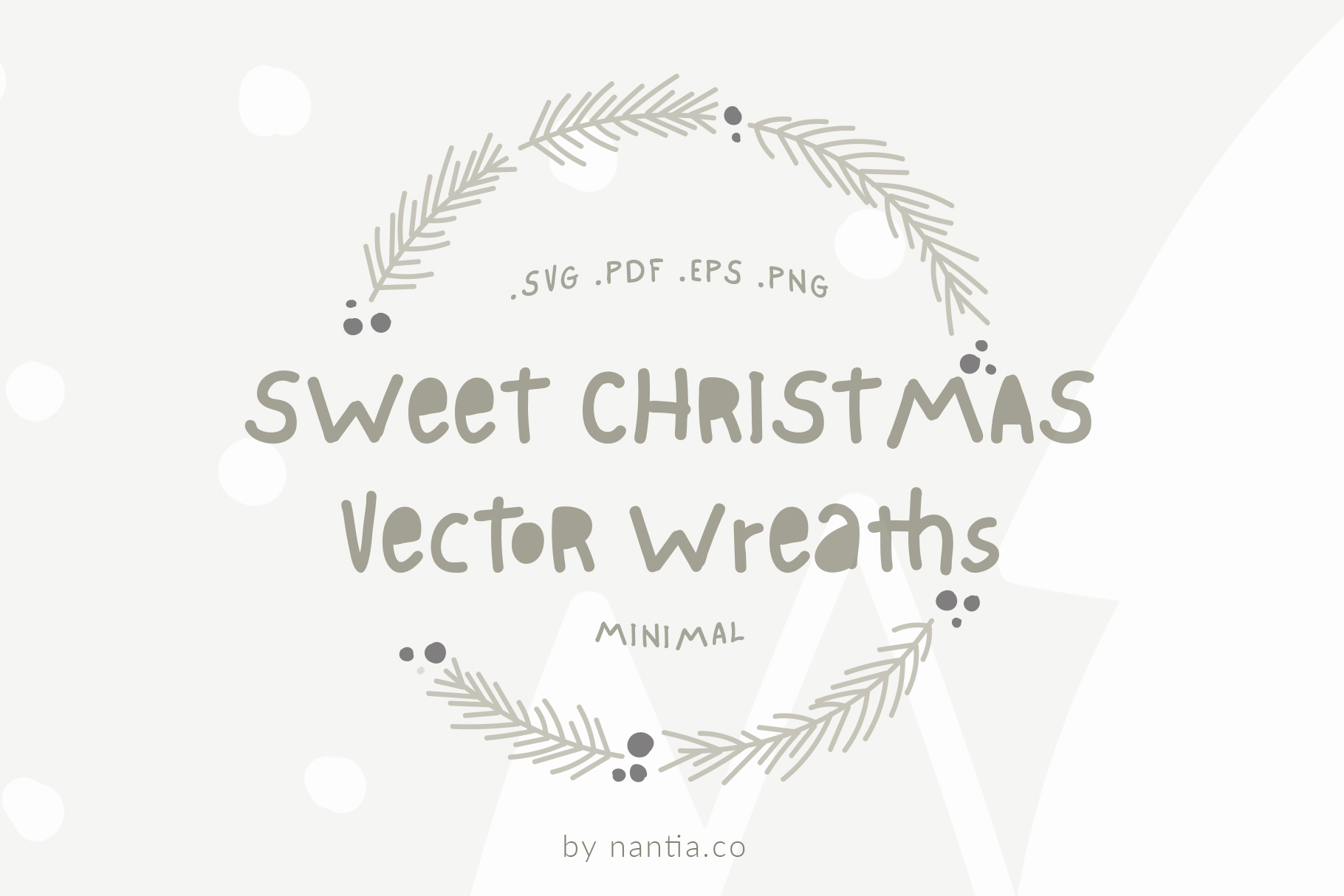 Sweet Christmas Vector Wreaths example image 3