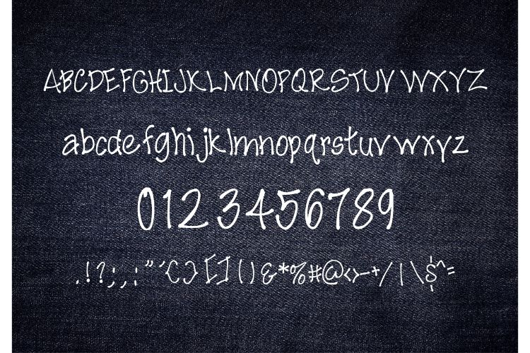 Denim Panic Handwritten Font example image 2