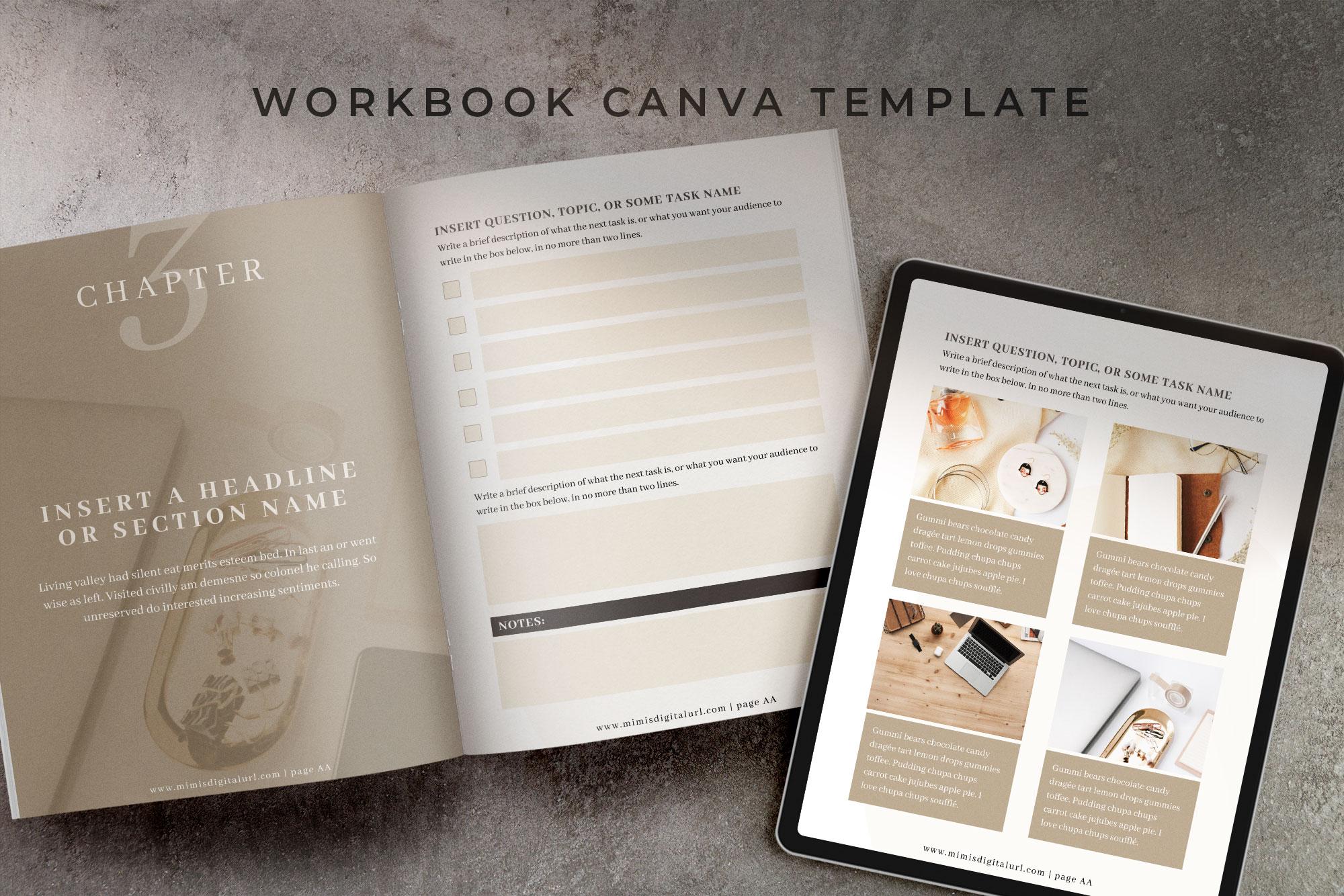 Workbook Canva Template | Mink example image 1