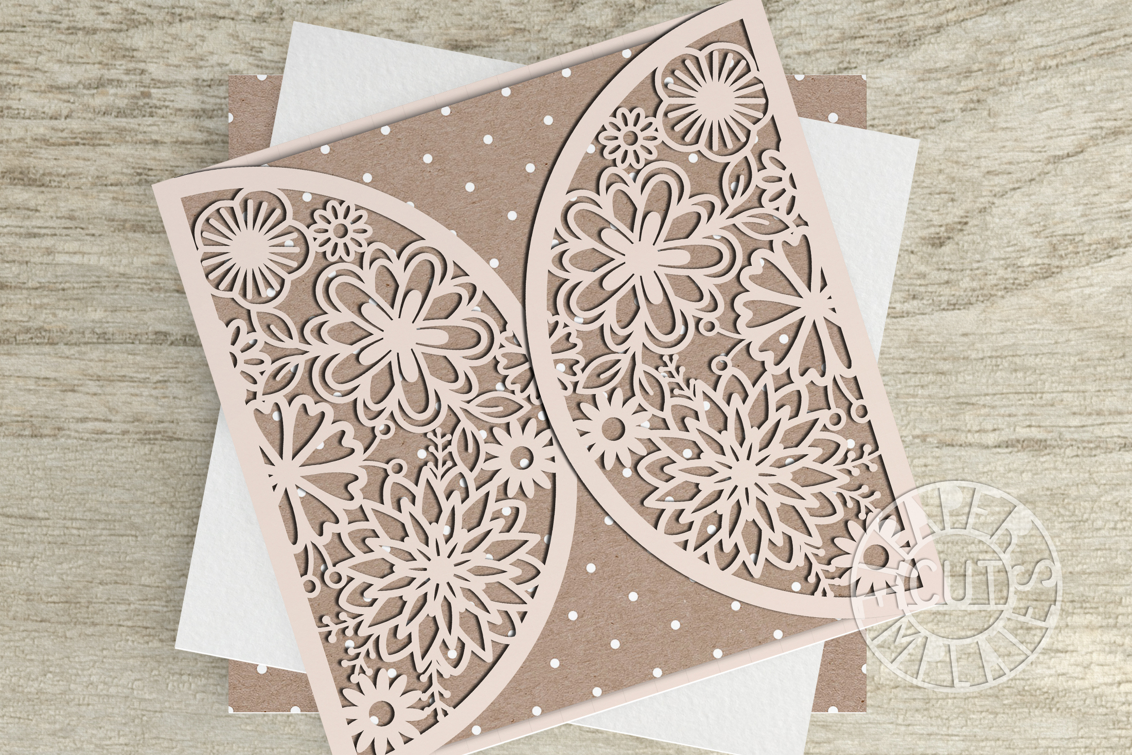 svg template of wedding card cut file for cricut laser