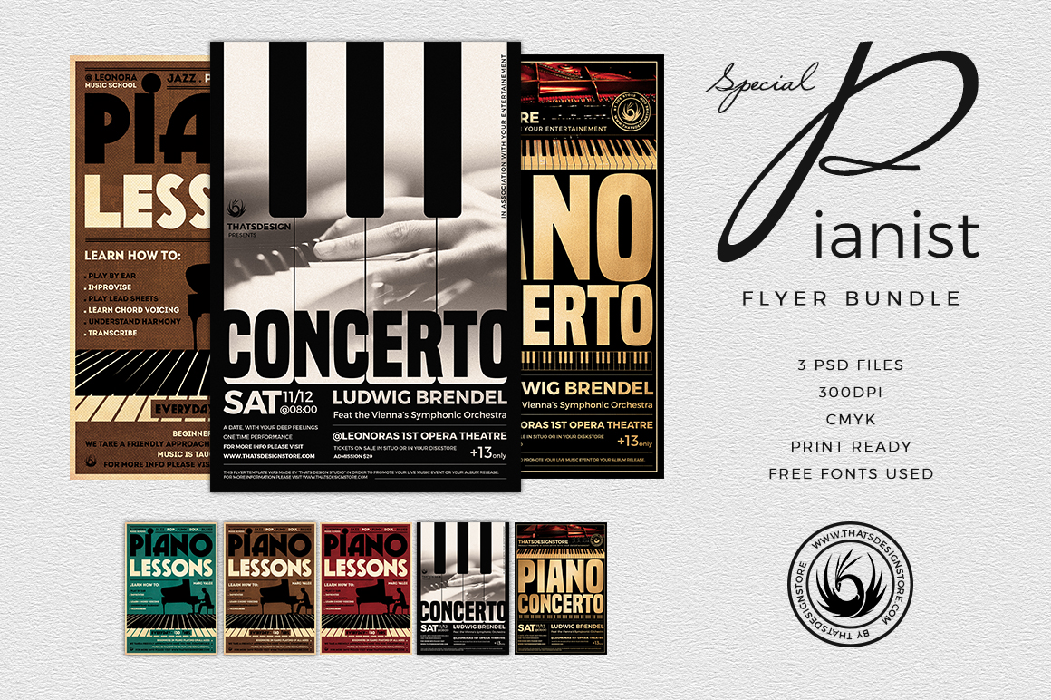 Special Pianist Flyer Bundle example image 1