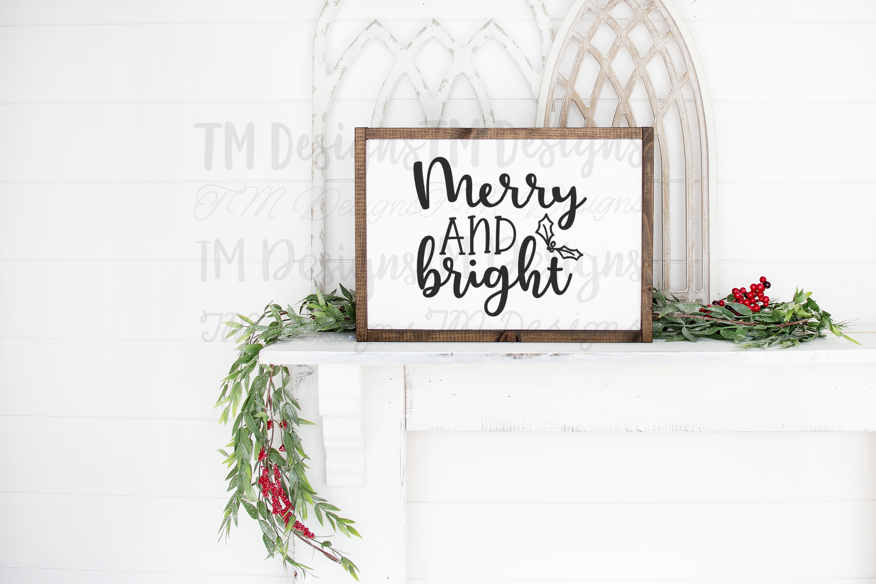 Merry and Bright SVG example image 2