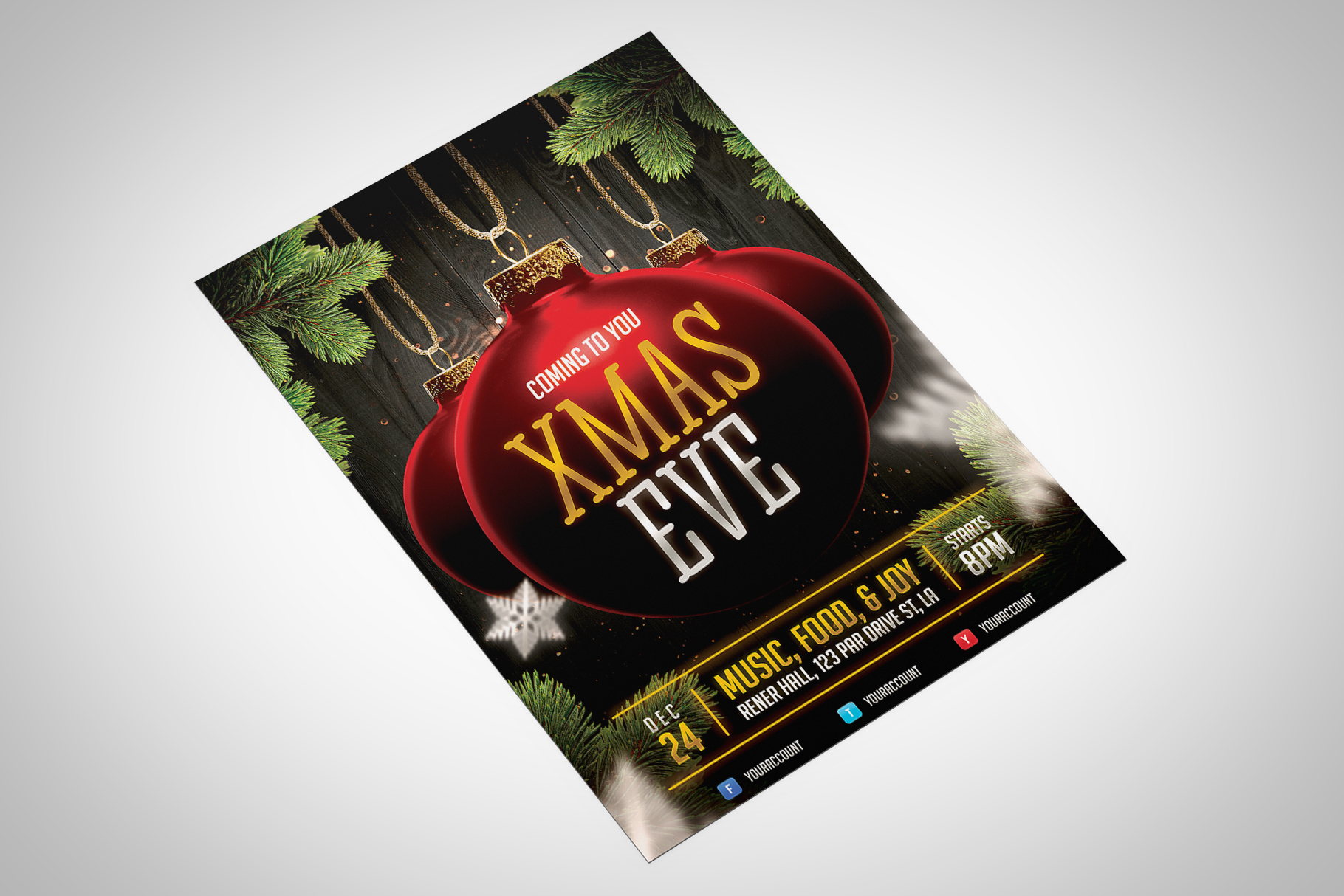 Christmas Event Flyer Template example image 2