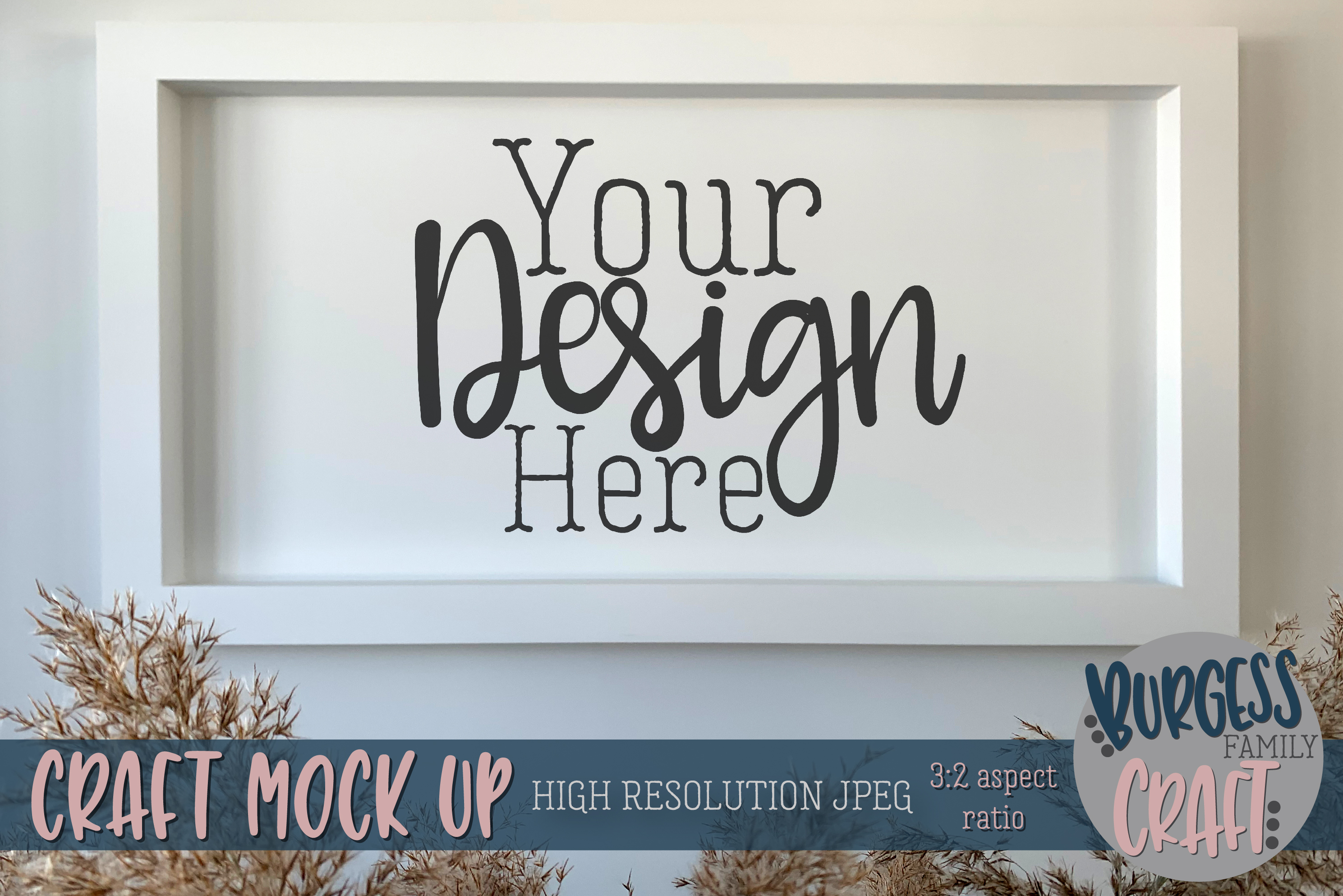 Wall frame Craft mock up |High Res JPEG example image 1