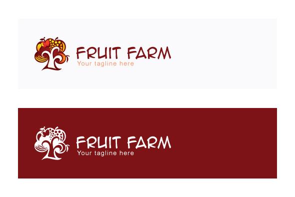 Fruit Farm - Organic Farming Abstract Tree Stock Logo example image 2