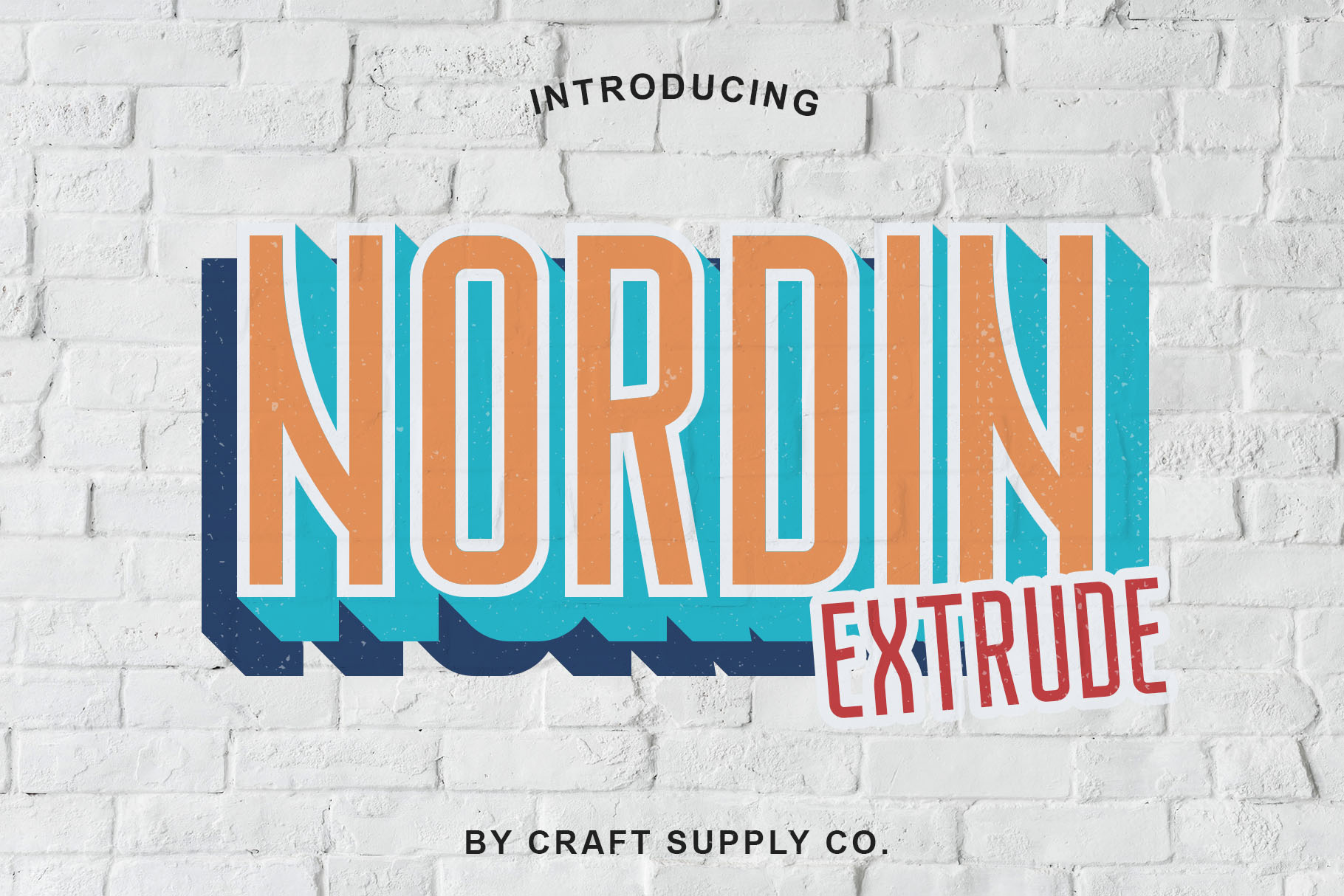Nordin Extrude Font Family example image 1