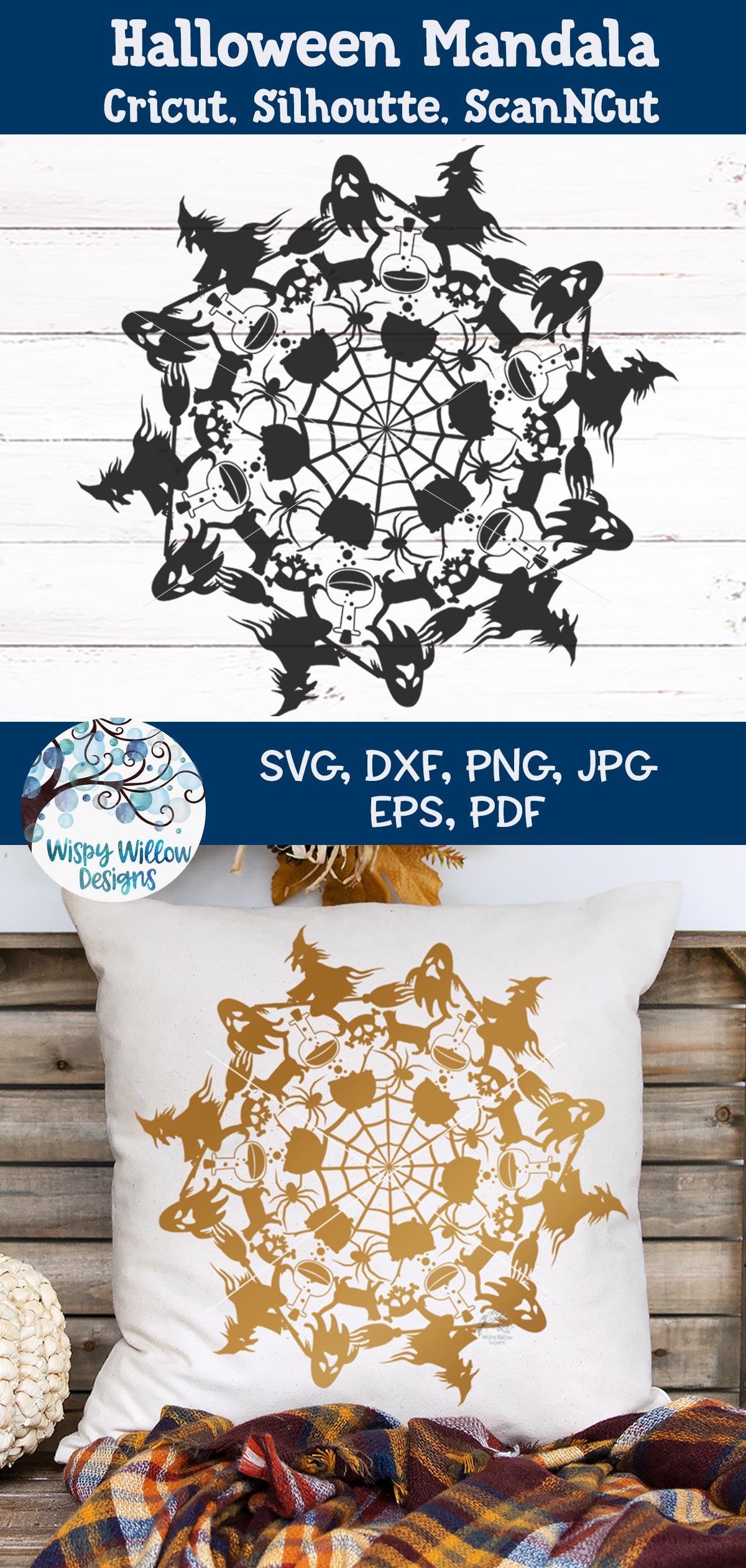 Halloween Mandala SVG | Fall Mandala SVG | Fall SVG Cut File example image 3