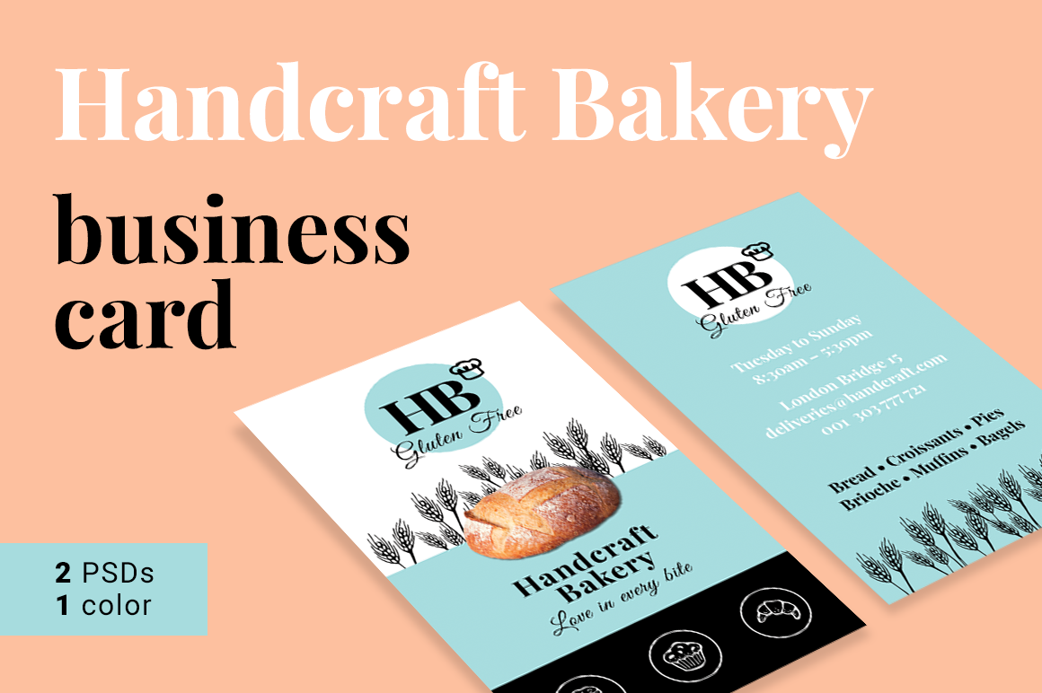 Bakery Business Card example image 1