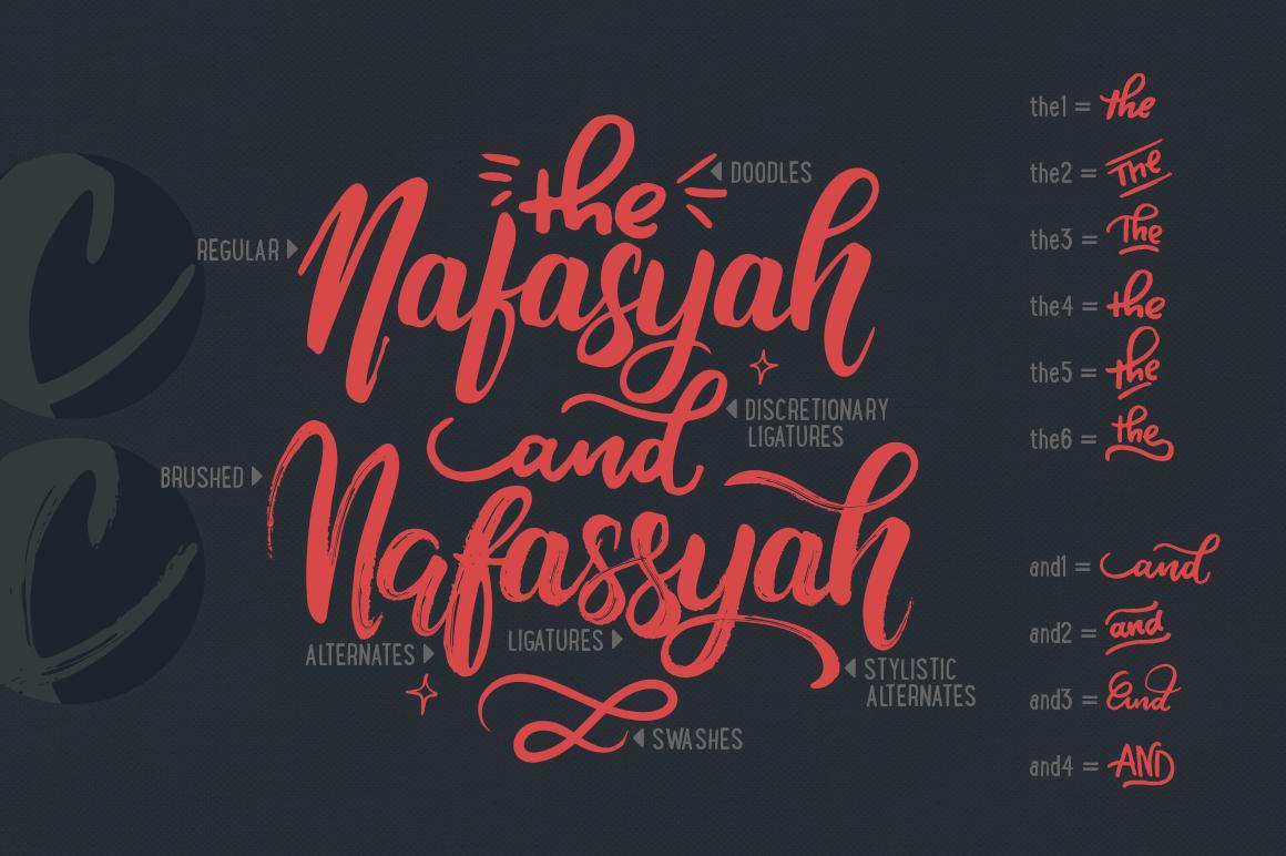 Nafasyah - Brushed Font Duo example image 9