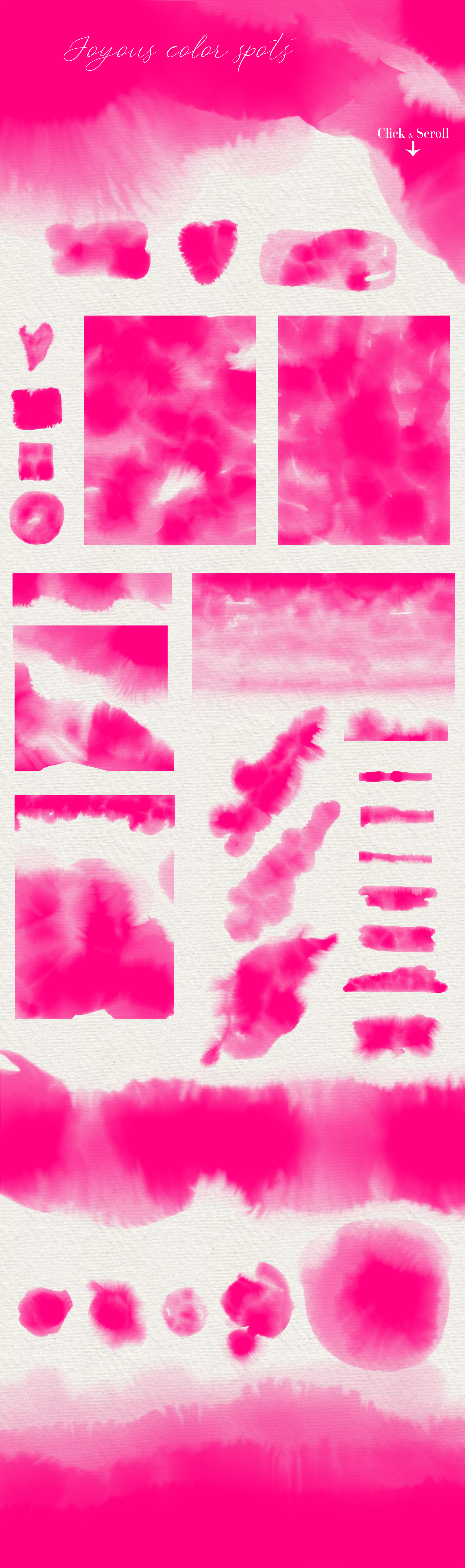 Hot Pink - 45 Watercolor Textures example image 4