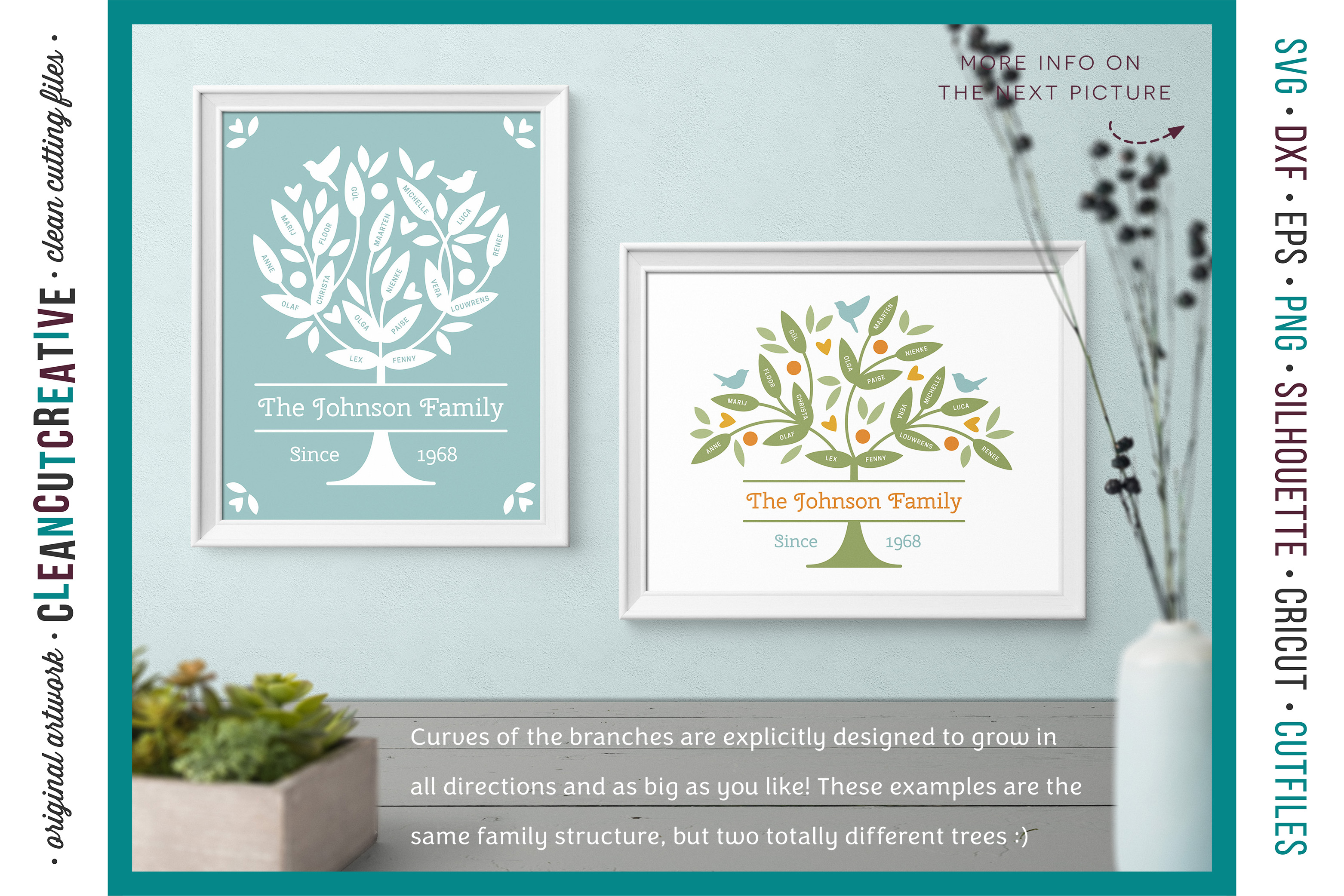 Grow a FAMILY TREE! - crafter design toolkit - SVG cutfiles example image 3