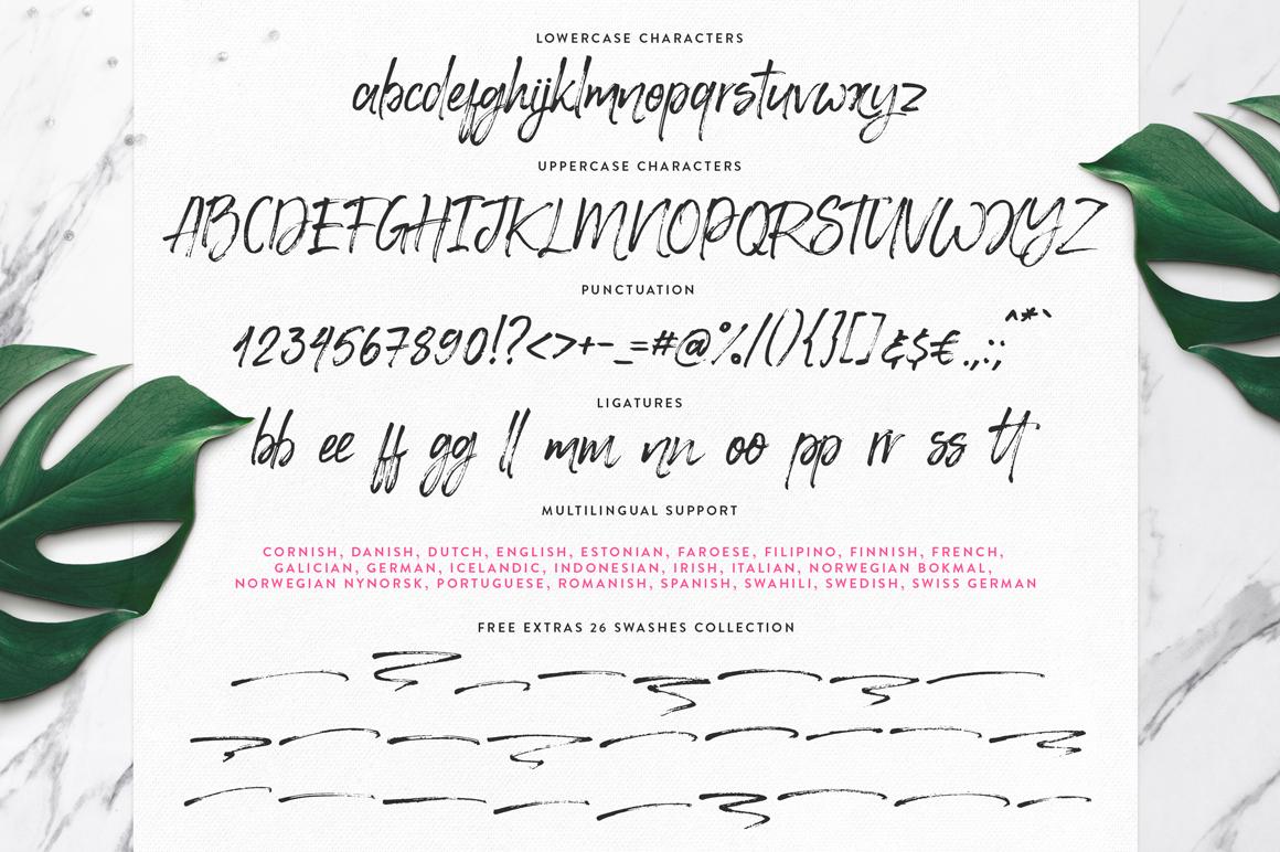 Happy Trendy Font + Extras example image 11