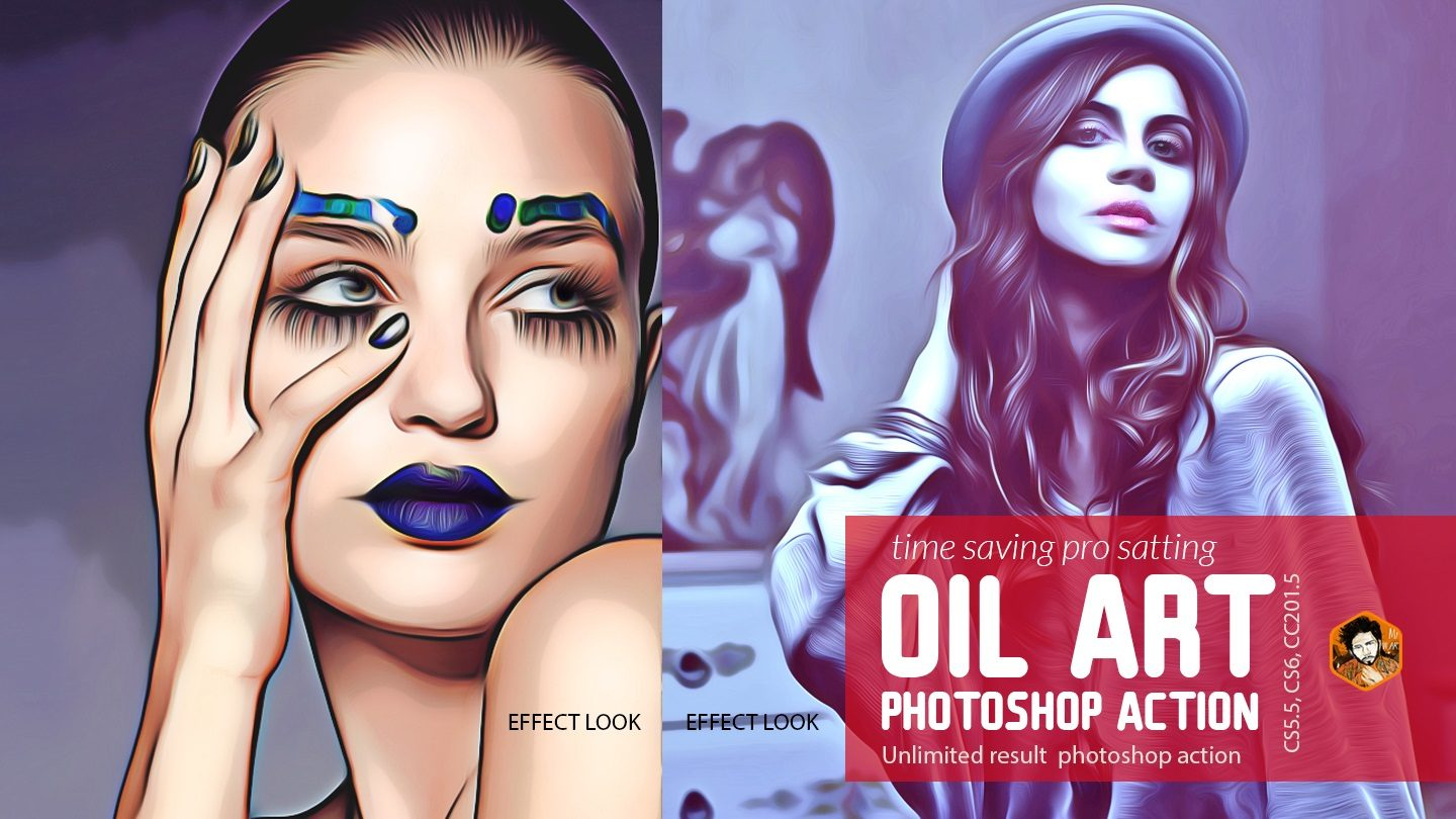 Oil Art Photoshop Action example image 4