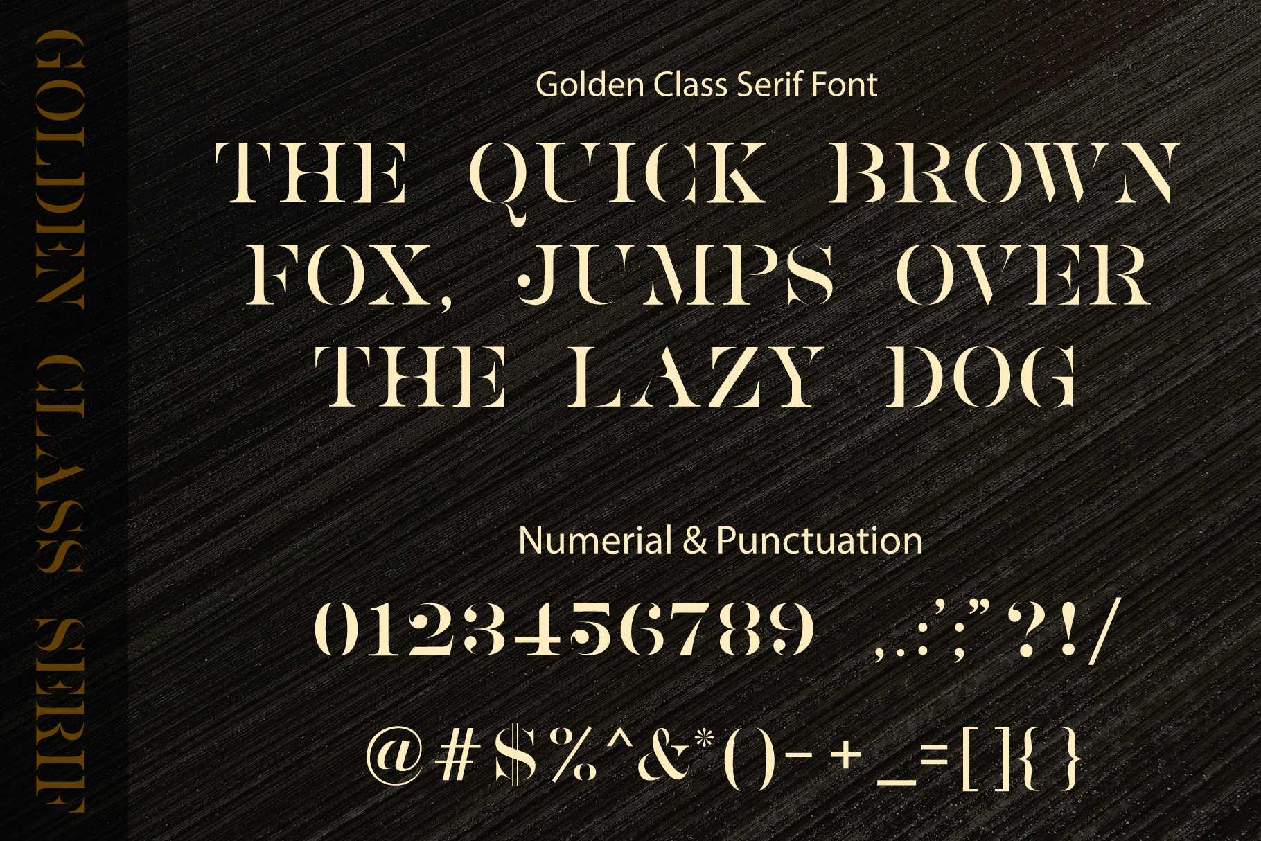 Golden Class Font Duo example image 16
