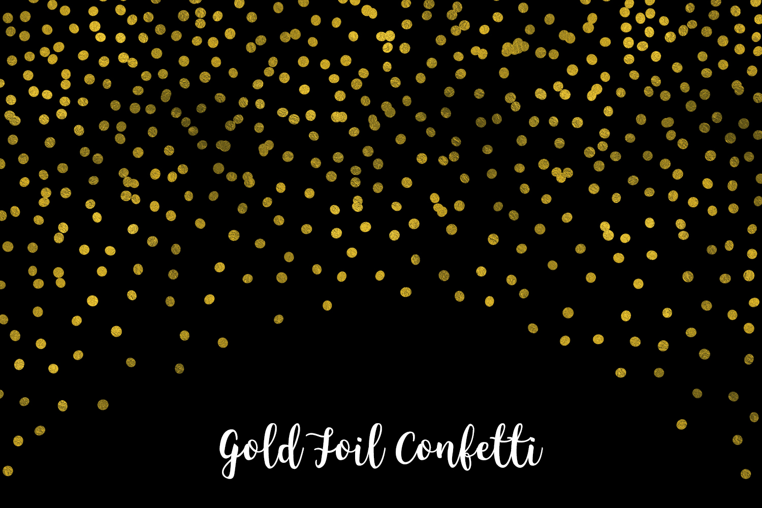 Gold Foil Confetti, Transparent PNG example image 7