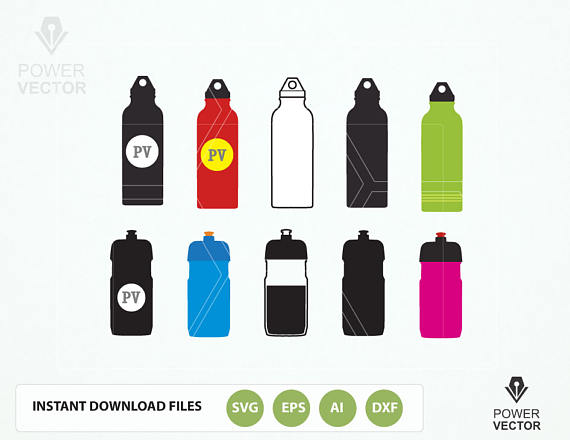 Water Bottles - A Sports Clipart Collection example image 1