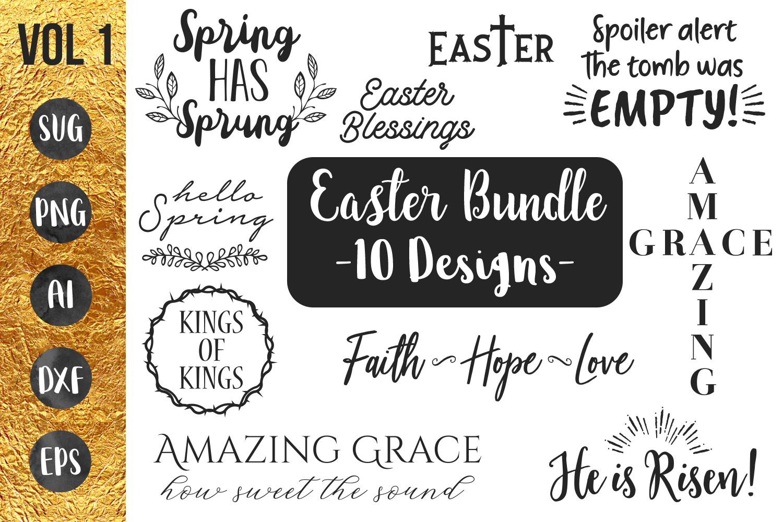 Easter - Spring - Bundle - SVG PNG EPS example image 1