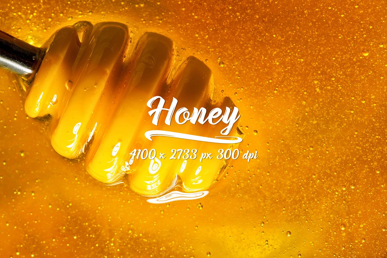 Honey bundle and macro photography texture of honey. example image 3