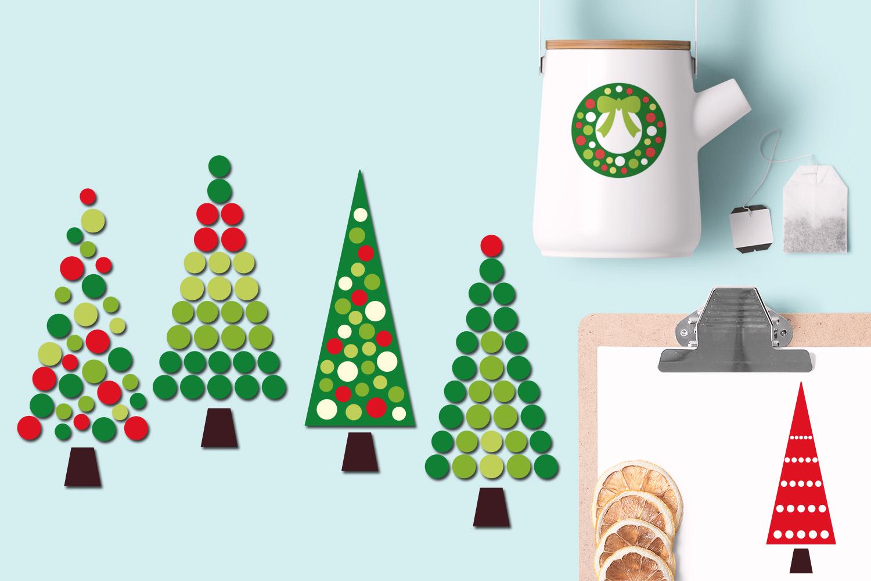 Christmas Wreath and Tree Polka Dot example image 2