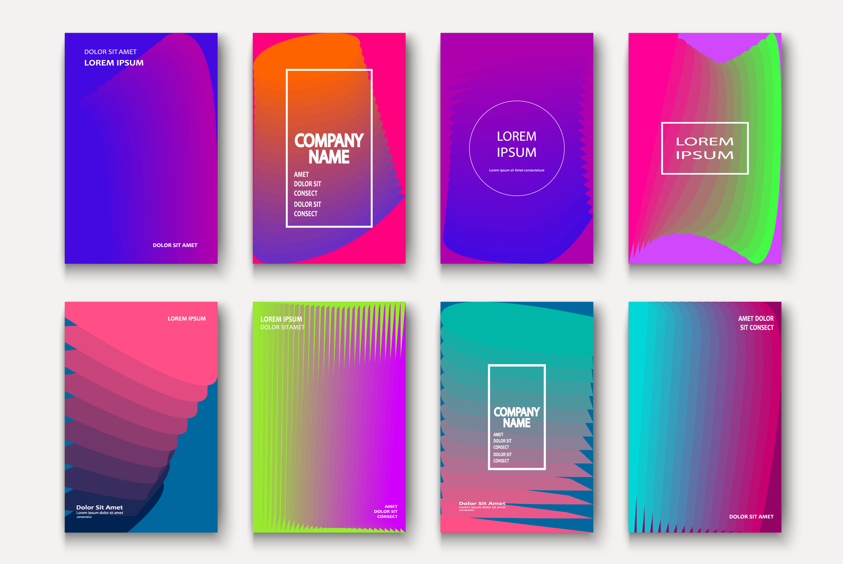 Trendy cool neon minimal abstract modern covers geometric example image 1