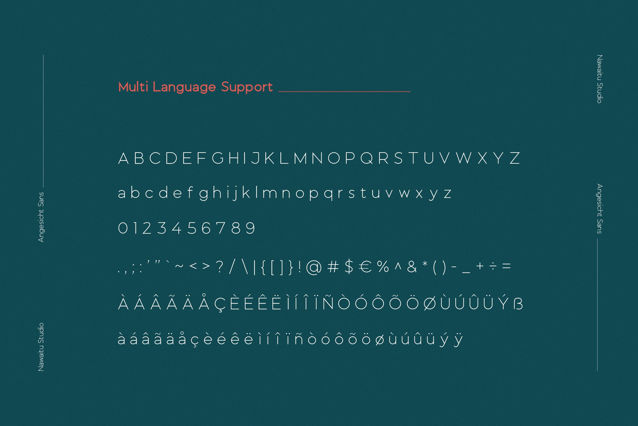 Angesicht   Modern Sans Serif example image 3