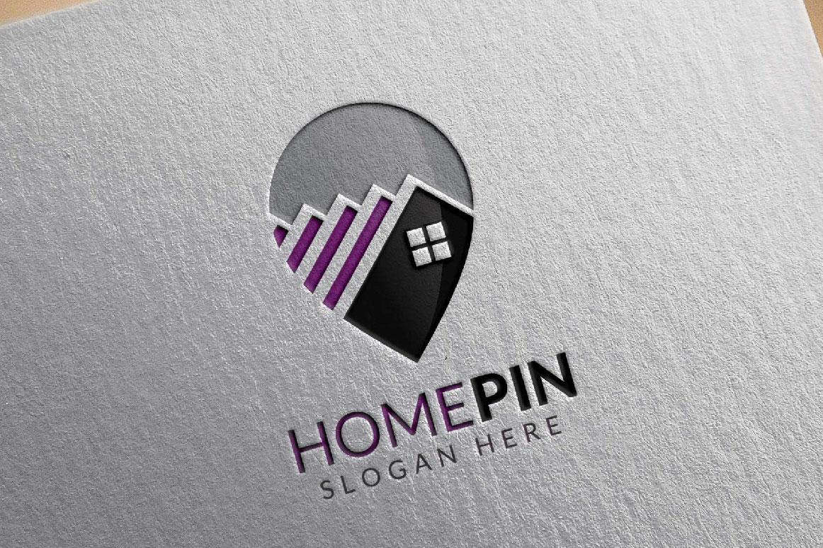 Home Pin Logo, Real estate logo example image 4