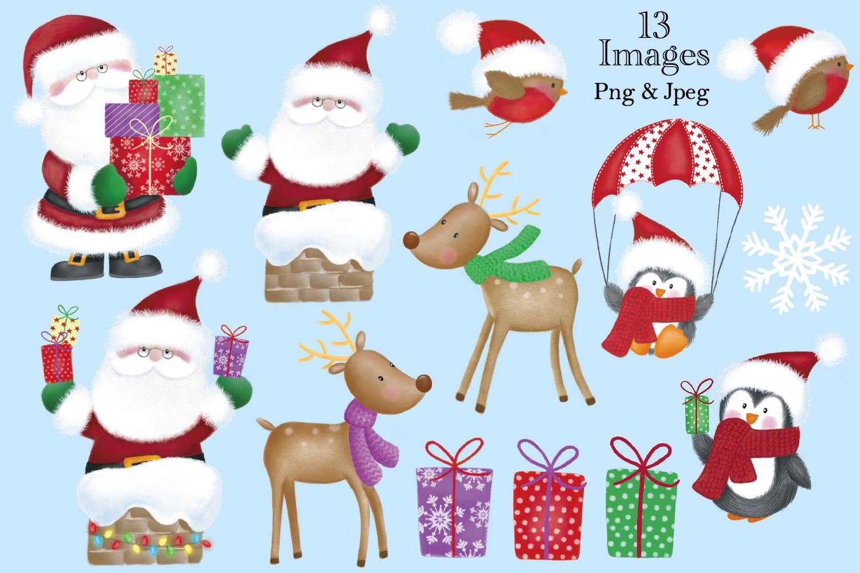 Christmas clipart, Christmas graphics & illustrations, Santa example image 2