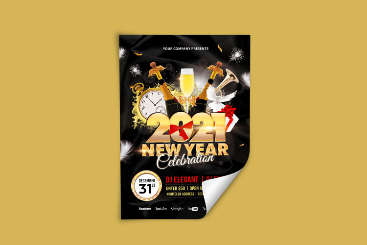 NEW YEAR PARTY FLYER 3 example image 3