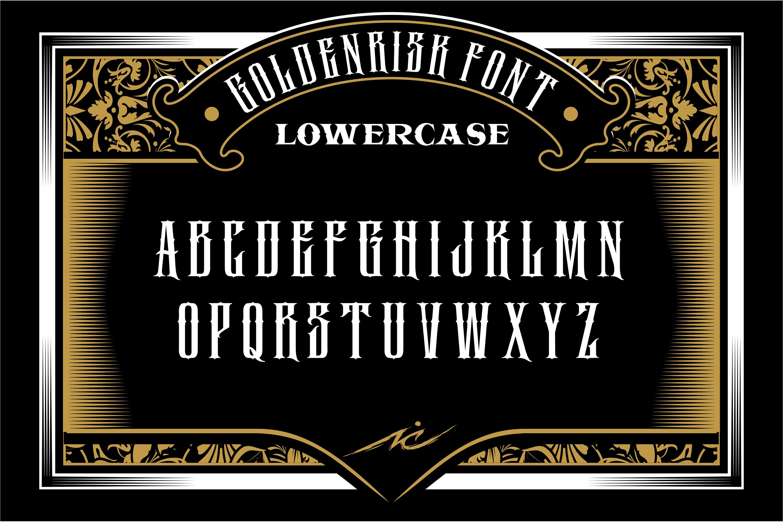 GOLDENRISK FONT example image 3
