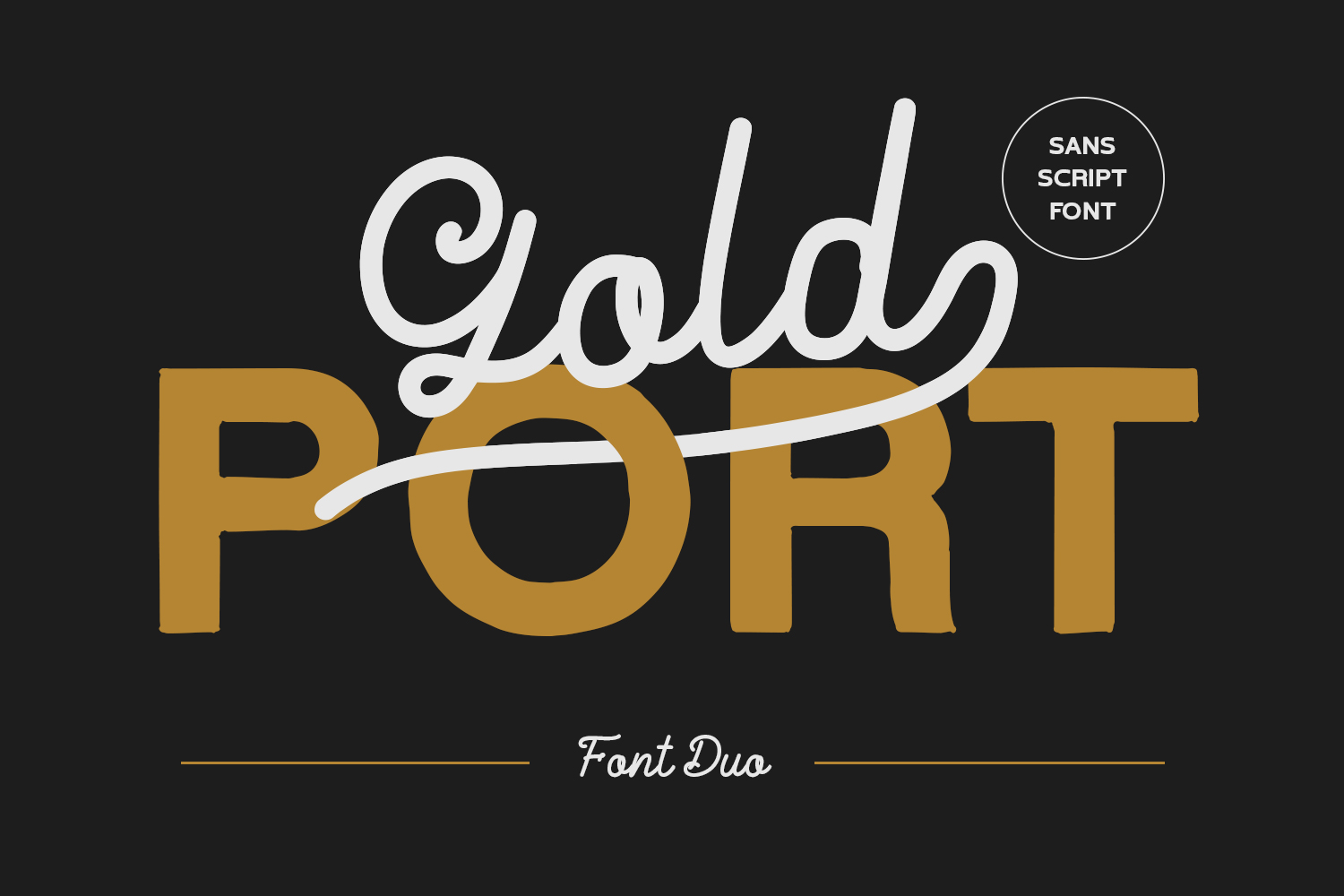 Gold Port - Font Duo with Sans example image 1