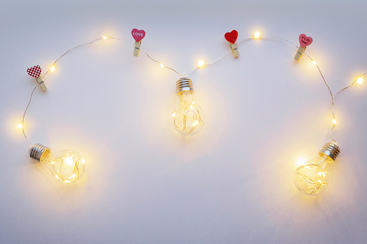 White background with yellow light lamps example image 1