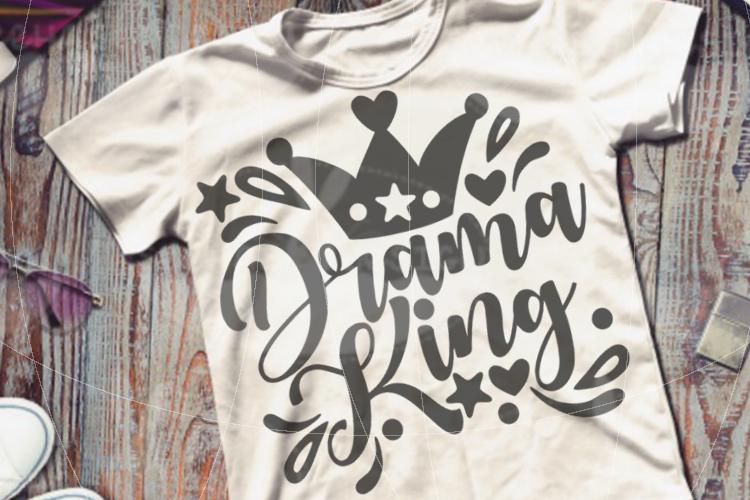 File Drama King for Cutting Lasercut Print SVG PDF EPS example image 2