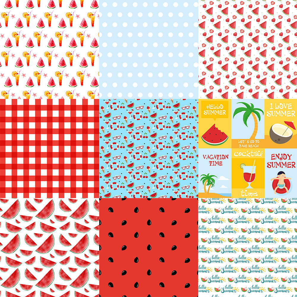 Watermelon digital papers, Picnic papers, Watermelon scrapbook ...