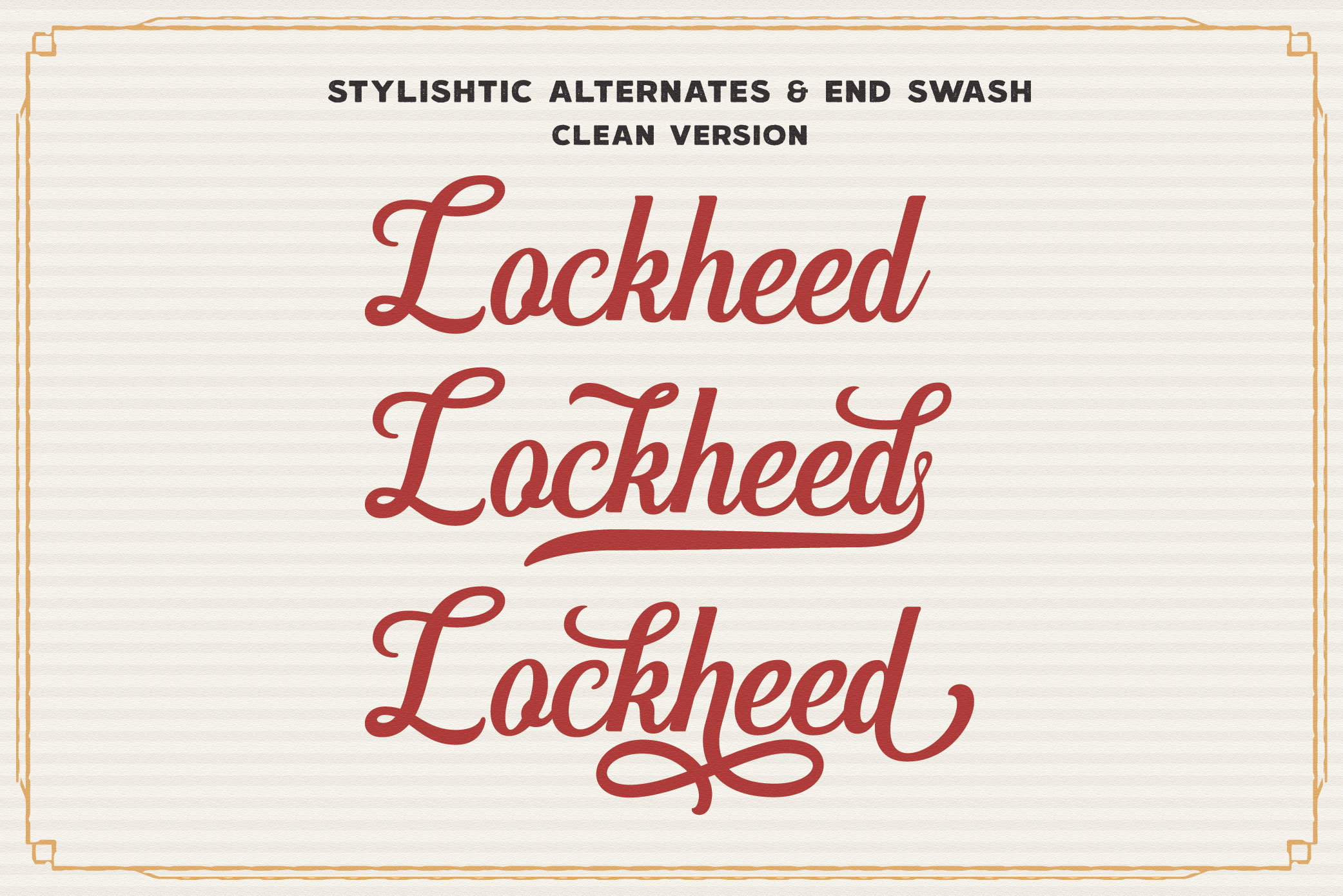 Hanleth Vintage Font Family example image 8